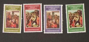 St Christopher Nevis Anguilla 1969 Christmas SG202/5 MNH UM unmounted mint