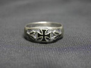 WW2 WW1 German Veteran EK1 Commemorative Silver Ring