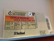 Football Ticket - UEFA - Coca cola cup - Cercle Brugge - 1998
