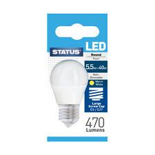 Status LED Golfball Light Bulb ES 5.5W = 40W 470 Lumens - Warm White