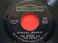 """MAMAS AND PAPAS~GOT A FEELIN'~MONDAY,MONDAY~VINYL~45RPM~7""""~DUNHILL RECORDS~VG+"""