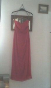 "Leila Rose Strapless Bridesmaid Dress Size 14, ""Flame"" (Cerise/Magenta)"