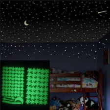 103pcs Stars Luminous Moon Wall Stickers Home Room Decor Glow In The Dark Decal~