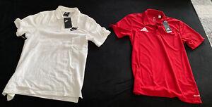 Original Nike + Adidas Polo Shirt Doppelpack Größe S NEU Fußball Sport Fitness