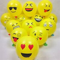20X Emoji Latex Balloons Yellow Party Smiley Emoji Face Emoticon Balloon Random