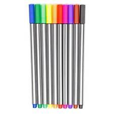 Fineliner Coloration Stylos Set 0.5 mm Neuf dans sa boîte-Multi-couleurs assorties Pack de 10