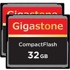 2 Pack Dane-Elec/Gigastone 32GB CF Compact Flash Memory Card for Nikon Canon