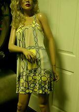 Julie Brown Mini Dress Silk Mod/GoGo 60's Look Yellow Small