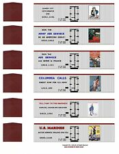 WW1 Liberty Train 60 boxcar set, HO scale printed reefer sides