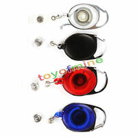 Recoil Retractable Yo Yo Key Ring PULL CHAIN Belt Clip ID CARD Holder Ski Pass
