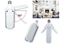 Lampadina led ventaglio pieghevole 60w luce fredda 4 pale e27 richiudibile