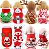 Christmas Santa Pet Clothes Warm Coat Dog Cat Hoodie Puppy Jumpsuit Vest Costume