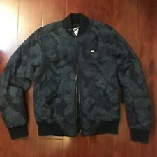 NEW G-STAR RAW BOMBER JACKET RACKAM PIXELATED SARU BLUE PRINT MEN SIZE SMALL S