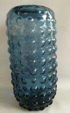 Gallery Blue Elise Bobble Glass Vase / Elise Vase Height 11.5 inches