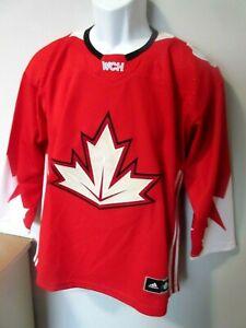 Yth Boys Adid Team Canada IIHF 2016 World Cup of Hockey Jersey Olympics L/XL EUC