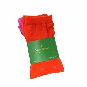 Kate Spade Knee High Maraschino Polka Dot Socks One Size Pink Red 1 Pair
