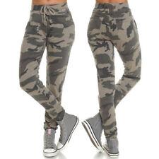Camouflage Damenhosen mit mittlerer Bundhöhe aus Baumwollmischung