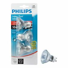 Philips 415794 Indoor Flood 50-Watt MR16 GU10 Base 120-Volt Light Bulb, 3-Pack …