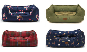 JOULES DOG BED LUXURY HIGH QUALITY COMFY PET BEDS TWEED, FLORAL OR COASTAL S M L