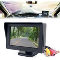 "4.3"" TFT LCD Rotary Backup Monitor For Car Reversing Rear View Camera GPS DVD Y8"
