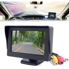 "4.3"" TFT LCD Rotary Backup Monitor For Car Reversing Rear View Camera GPS DVD AE"
