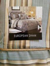 New J Queen Alicante Valdosta Aqua Euro Pillow Sham