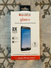 Zagg invisible SHIELD Glass + Extreme Screen & Scratch Protector iPhone 6/ 6s /7