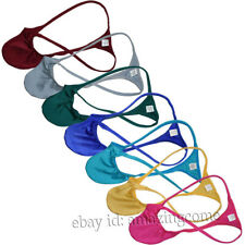 Men's Micro Hip Enhancer Thong Underpants Contoured Pouch String Tangas Panties