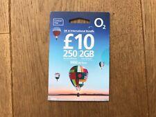 O2 £10 bundle international sim card