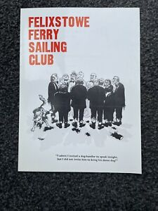 Rare Giles Cartoon Menu Felixstowe Sailing Club