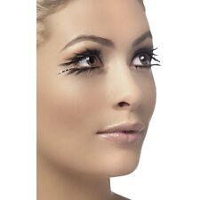 Black Top & Bottom False Eyelashes Beauty Fancy Dress Hen Natural Fake Diamante
