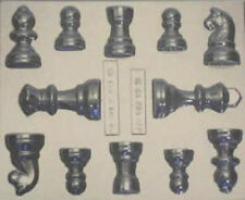 12 CAVITY CHESS SET CHOCOLATE MOULDS, ICE , SOAP,CLAY, MOULD  FAVOUR