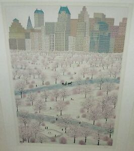 "FANCH LEDAN ""SPRING SNOW"" HAND SIGNED LIMITED EDITION LITHOGRAPH WITH C.O.A."