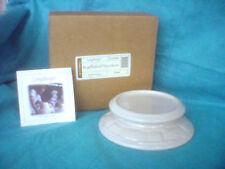 1 Longaberger Ivory Off White Candle Holder Cheeseball Plate Dish New