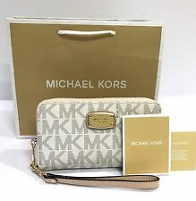 Michael Kors * Jet Set Phone Case Wristlet Wallet in Sig Vanilla COD PayPal