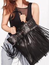 Victoria's Secret Flirty Fringe Tote Bag In Black New!