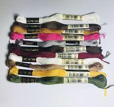 10 Skeins DMC Embroidery Floss 1 Anchor Susan Bates Multiple Colors