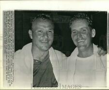 1964 Press Photo Tommy Jacobs & Arnold Palmer, golf tournament, Country Club, DC