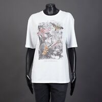 ALEXANDER MCQUEEN 465$ White Cotton Printed Tshirt With Butterfly Embroideries