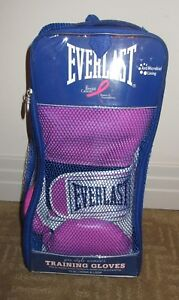 EVERLAST Pro Style Women's Training Gloves ~ 12 oz Hook & Loop ~ NEW! Pink!