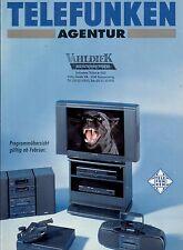 Telefunken Agentur Original Prospekt / Katalog   2/1993 93