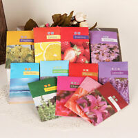 10 Natural Air Freshener Perfume Vanilla Sachets Paper Fragrance- Car Home E0R8