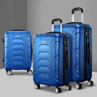 Wanderlite 3pcs Travel Luggage Hard Case Trolley Cabin Lightweight Suitcase Set