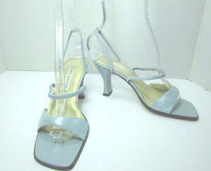 Women's Ann Marino Leather Baby Blue High Heel Sandals Size US 6 M
