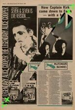 Alice Cooper Seven & Seven Is Tour Advert NME Cutting 1982