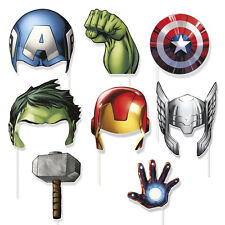 8 Marvel Avenger Birthday Party Favors Gifts Loot Treat Photo Props W/Stick