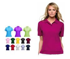 Ladies Premium Pique Polo T Shirts Size 8 to 22 - SPORTS CASUAL WORK LEISURE 106