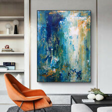 YA1448 Home decor 100% Hand-painted abstract oil painting on canvas Blue ocean