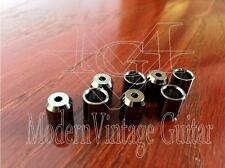 8 - Modern Vintage Guitar Body String Mounting Ferrules  NO LIP  Black Nickel