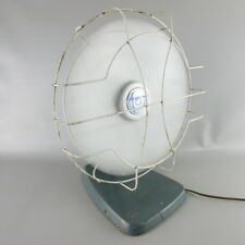 "RARE Vtg Fan Master 1253 ELECTRIC FAN Desk Top Table  12"" Blue Green Gray"